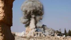 パルミラ遺跡の爆破画像か?