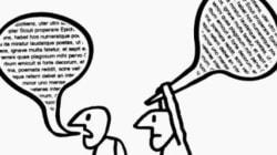 Ironia: O diálogo está em crise neste momento em que todos estão