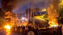 L'autoroute A1 bloquée par des gens du