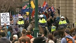 Australian Flag Burnt After Hundreds Brawl At Anti-Mosque