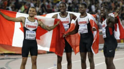 Canadian Men's 4x100 Relay Team Win Bronze At Track