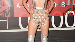 Miley Cyrus Bares (Almost) All On The VMA Red