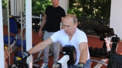 New Photos Released By Kremlin Show Vladimir Putin Working Out, Grilling Meat Over Tea With