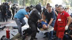 Explosion en marge d'une manifestation devant le parlement à