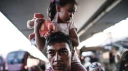Plusieurs centaines de migrants arrivent à