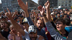 Asylum Seekers Demonstrate In Hungary, Demand Access To