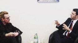 Matteo Renzi e Bono all'Expo