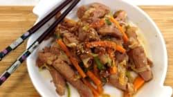Vite fait, bien fait: sauté de porc à la coréenne