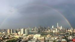 Deux arcs-en-ciel au-dessus de New York avant le 11 septembre