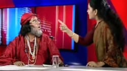 Woman Astrologer And Self-Styled Godman Rain Blows On Live