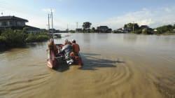 浸水地域鬼怒川など8県72河川