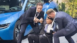 BMW CEO Collapses During News