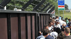 Refugees Protest At Closed Hungarian