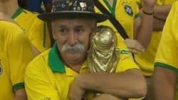 Le supporter symbole de la déroute du Brésil en Coupe du monde est