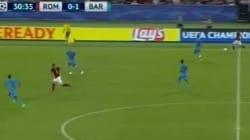 Roma Barcellona: il gol spettacolare di Florenzi