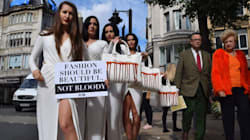 Des mannequins protestent à Londres pour les droits des animaux