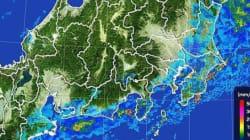 関東と東北、激しい雨や雷雨に注意 局地的には道路が川のようになるほど激しく降る所も