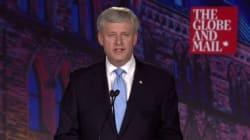 Harper Blasts Trudeau, Mulcair Over Economic