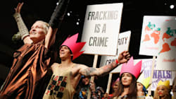 Vivienne Westwood Holds Real-Life Protest During Runway