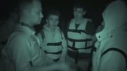 Muni d'une caméra, ce migrant traverse la mer à bord d'un radeau