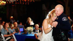 Police Pay Tribute To Fallen Officer On His Daughter's Wedding