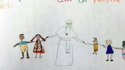 Con questa lettera Sophie ha conquistato un bacio da Papa