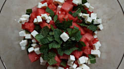 Watermelon, Feta & Mint Salad with Balsamic
