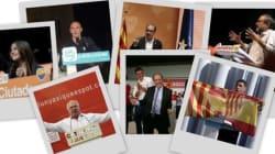 La campaña de los candidatos catalanes, a
