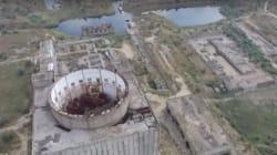 Survolez une centrale nucléaire abandonnée depuis 30