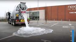 Ce ciment absorbe des tonnes d'eau