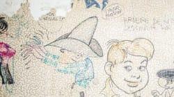 Des originaux de Franquin, Peyo et Roba sous le papier-peint d'un