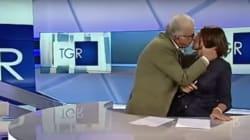 Un invité embrasse de force la présentatrice en direct à la télé