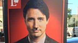 Des croix gammées sur les pancartes de Justin