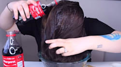 She Washed Her Hair Using Coke. The Results Were