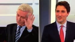 Trudeau Gets A Little Too Lovey For Duceppe's