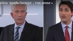 Trudeau appelle Duceppe «mon amour»