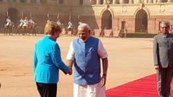 Narendra Modi's 'Namaste' Greets Angela Merkel As She Arrives In India For