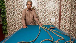 On The Other Hand... Here's An Indian Who Has Just Set A Record For The Longest