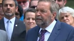 Grits Dub Mulcair TPP Flip-Flopper, But Video Doesn't Tell Full