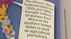 Sul libro di testo gli schiavi africani condotti in America diventano