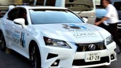 Une voiture autonome Lexus pour