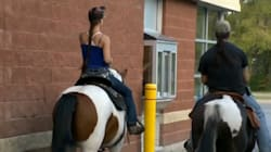 Couple Shocked To Find Riding Horses Through Drive-Thrus Is