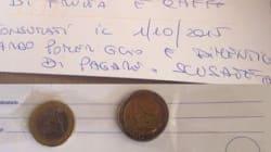 Dimentica di pagare il conto: spedisce i 3 euro ai titolari e si