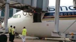 Cet Airbus a eu un petit problème de train