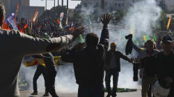 Police Use Tear Gas To Hold Back Mourners Of 128 Dead In Ankara