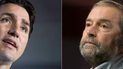 Énergie Est: Mulcair accuse Trudeau d'avoir déjà donné en secret son