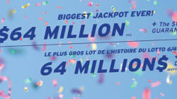 Lotto 6/49: gros lot record de 64 millions $ ce