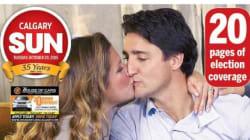 La victoire de Justin Trudeau à la une des journaux