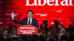 Le nouveau premier ministre du Canada remercie ses électeurs au métro