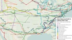 On the road con Mark Twain e Jack Kerouac. La mappa (interattiva) della letteratura